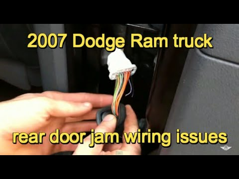 hqdefault 2007 dodge ram 3500 door wiring problem youtube 2007 dodge ram rear door wiring harness at webbmarketing.co