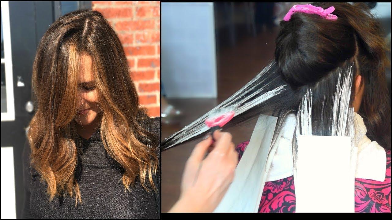 Caramel Balayage On Dark Hair Butlerbeautybar