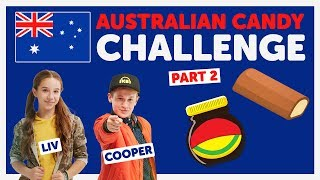 Australian Candy Challenge with Cooper & Liv from The KIDZ BOP Kids