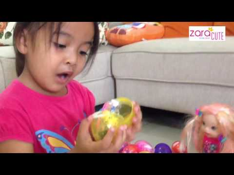 Zara Membuka Egg Surprise Bersama Baby Kenzo, Baby Alive Dan Baby Kuma 😍😍😍 Fun Video