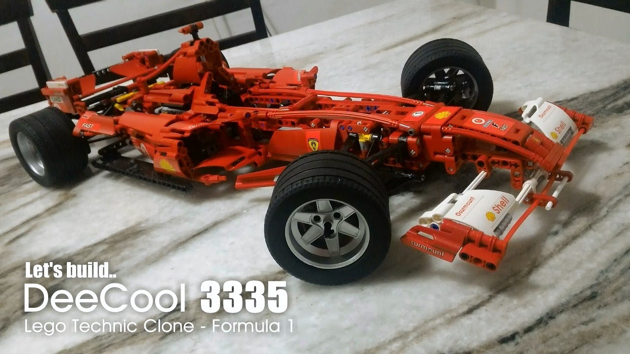 let 39 s build lego technic clone decool 3335 formula 1 youtube. Black Bedroom Furniture Sets. Home Design Ideas