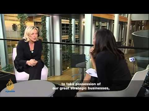 Talk to Al Jazeera   Marine Le Pen    YouTube