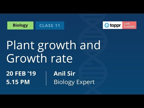 LiveClasses: Biology | Plant Growth & Growth Rate