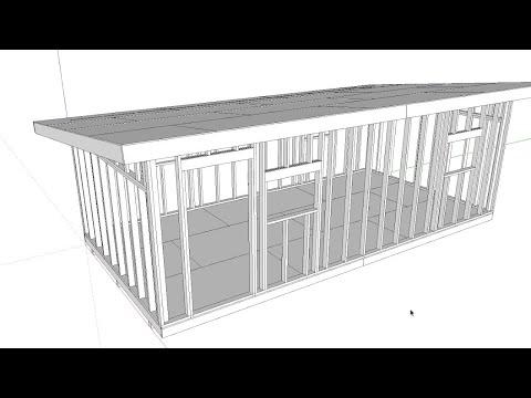 12'x24' DIY Shed Build (Part 2 - Sketchup Walkthru)