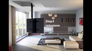 Tv ceiling lift flip drop down swivel - Maior Flip 900-900R - product description (ENG SUB)