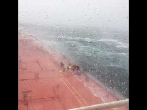 Ship Outside Cork Battles Rough Seas From Former Hurricane Ophelia
