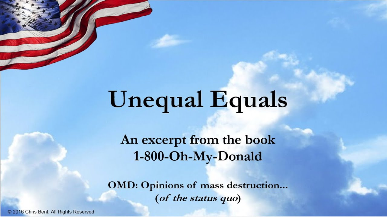 1-800-Oh-My-Donald: OMD: Opinions Of Mass Destruction of the status quo