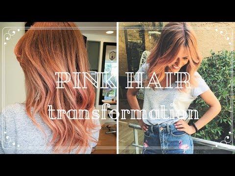 VLOG:| Pink Hair Transformation! (My Pink Flamingo Edition)