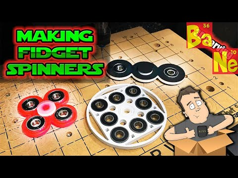 Making Custom Fidget Spinners with Carvey CNC Desktop Router Easy Tutorial