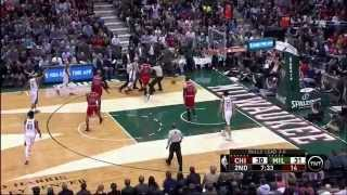 Aaron Brooks flagrant foul on Jerryd Bayless in Game 4: Chicago Bulls at Milwaukee Bucks