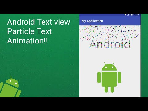 Android Particle TextView Animation