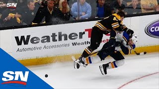 Watch as a frustrated Torey Krug lays a big hit on Robert Thomas during the third period of Game 1. ---------------------------------------------- Subscribe to Sportsnet on ...