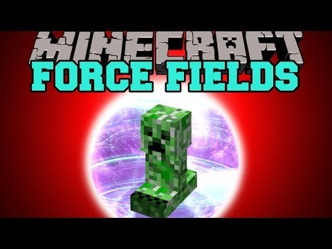 Minecraft: FORCE FIELD (DESTROY MOBS WITH YOUR FORCE FIELD) Mod Showcase