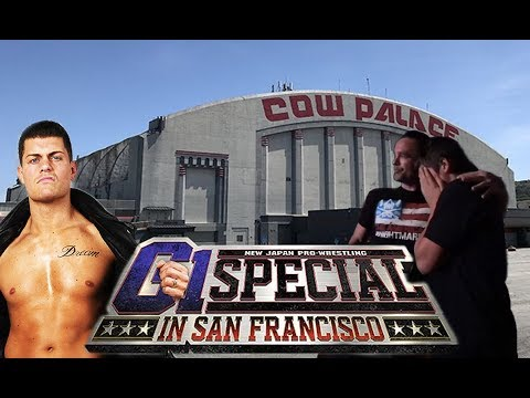 His reaction to Cody Rhodes at New Japan Pro Wrestling Cow Palace
