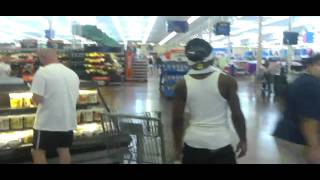 Mike Da Kidd at Wal Mart w/ Sick Made Money Hungry