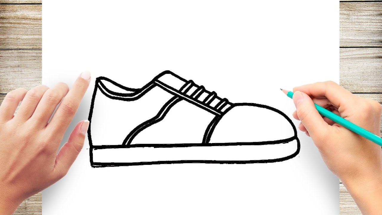 How To Draw Shoe Easy Youtube On the one hand, it is believed that a single picture can speak a thousand words and induce many thoughts, but at the same time, it is also true that not everybody can draw well. how to draw shoe easy