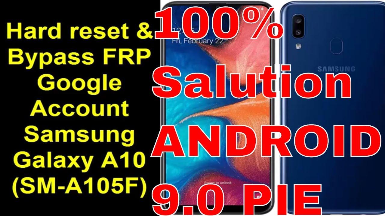 Hard Reset and Bypass FRP Google Account Samsung Galaxy A10