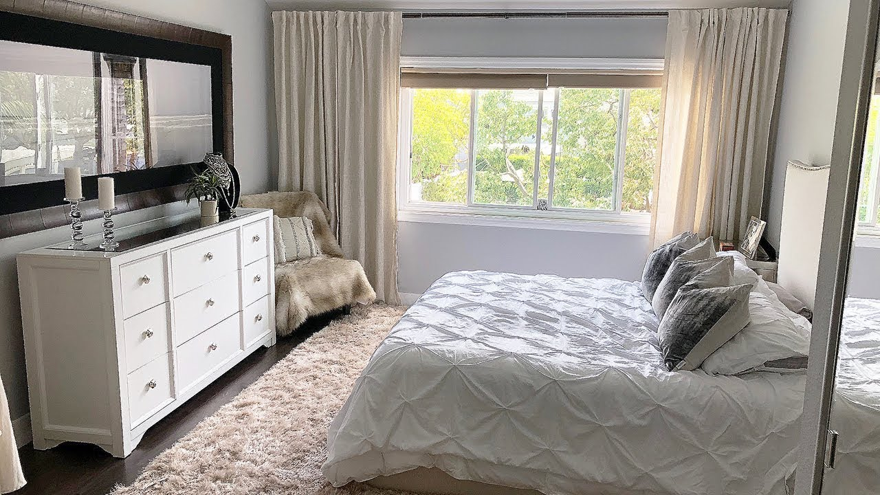 White Beige Bedroom Decor MAKEOVER!
