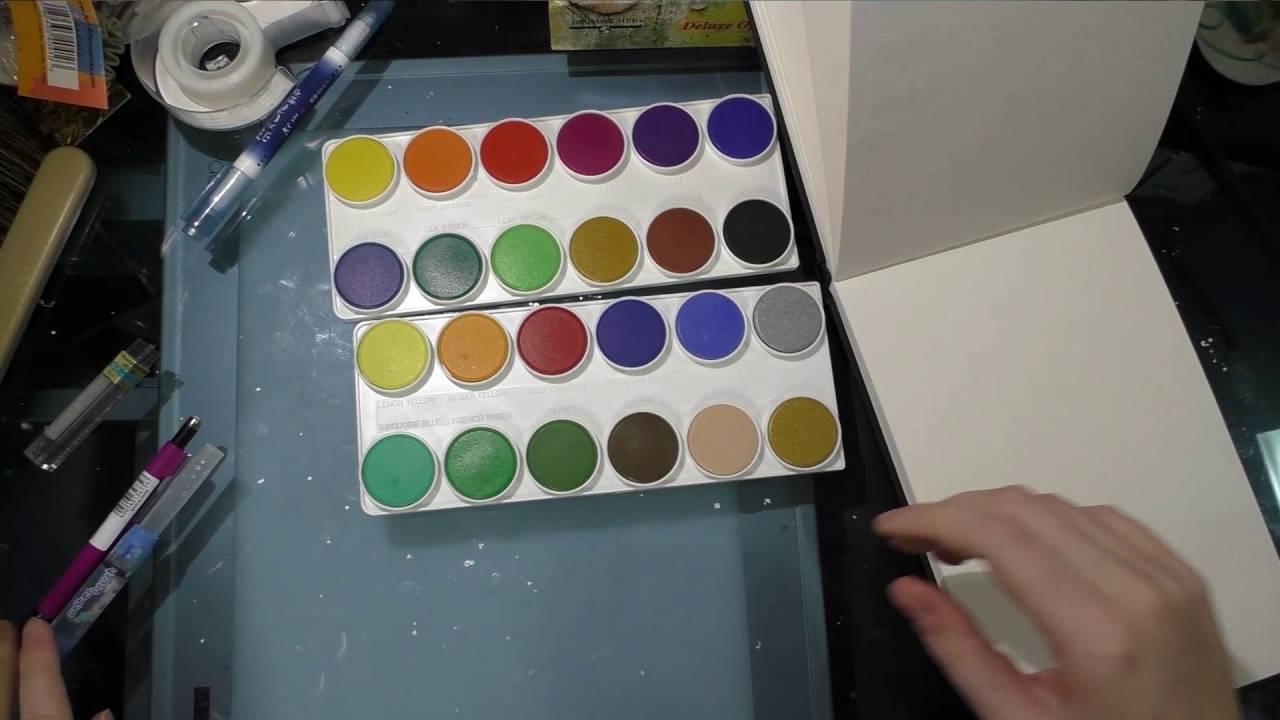 Swatching Grumbacher Opaque Watercolor Set Youtube
