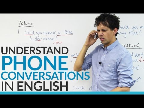 Conversation Skills – Understand PHONE conversations in English