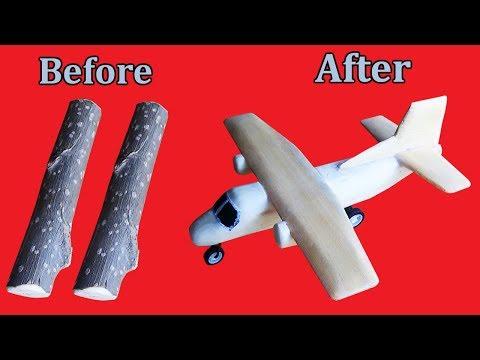 How to Make Wooden Airplane at Home | Handmade DIY Aeroplane By Sab Kuchh Banao Jano