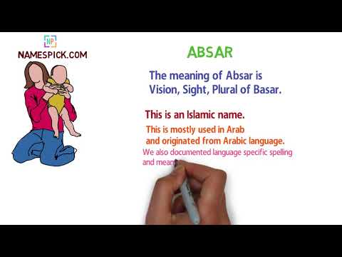 The meaning of Absar