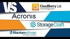 Small Business Backup: Cloudberry vs Acronis vs StorageCraft vs Macrium