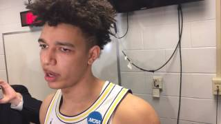 D.J. Wilson discusses Michigan's win over OK State