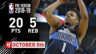 Dennis Smith Jr. Full Highlights Mavericks vs 76ers 2018.10.05 - 20 Points, 5 Reb