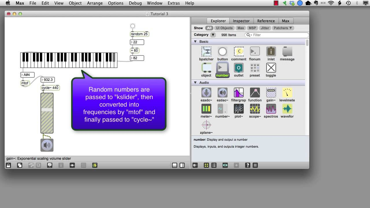 Max msp tutorial 3 random notes youtube baditri Gallery