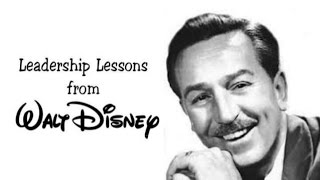 Walt Disney - VISION communicated and delivered!