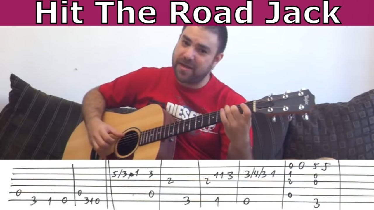 Fingerstyle Tutorial: Hit the Road Jack - w/ TAB (Guitar Lesson ...