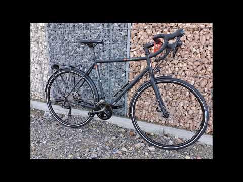 vsf fahrradmanufaktur T Randonneur Lite 22 G Shimano 105 Disc Trekking Bike 2018 ebony matt