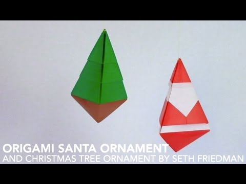 How To Make 3d Christmas Origami Ornaments Youtube