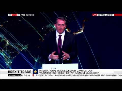 Dr Liam Fox: Our future must be global because the future of trade is changing