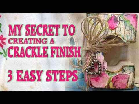 faux finish technique how to crackle paint in 3 easy steps youtube