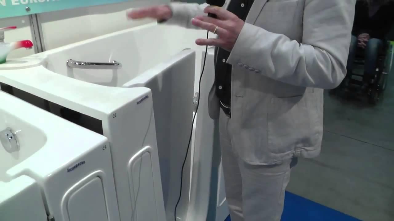 Vasche da bagno per disabili sicurbagno youtube