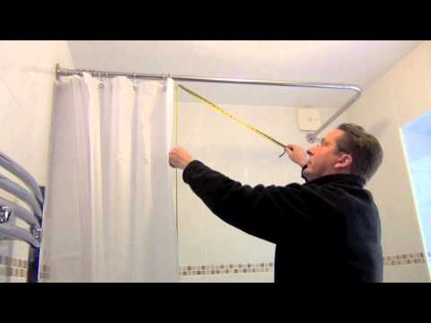 How to measure a shower curtain by Byretech