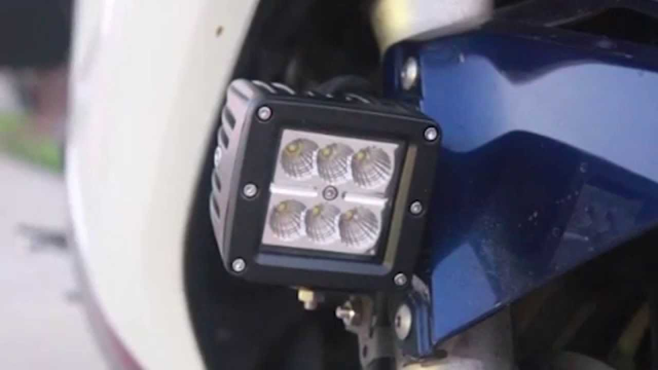 18w 3x3 led driving fog lights on honda vfr800 sport bike driving 18w 3x3 led driving fog lights on honda vfr800 sport bike driving lightlights publicscrutiny Image collections