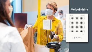 WHD VoiceBridge - innovative Gegensprechanlage für Hygieneschutzwände