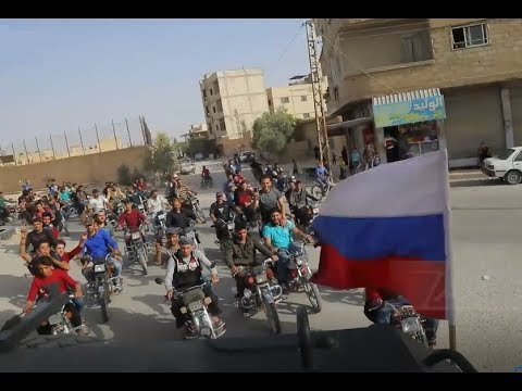 Russian Military Police entering Dumayr |  April 19th 2018 | Eastern Qalamoun, Syria