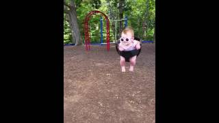 everly anne swing at the park