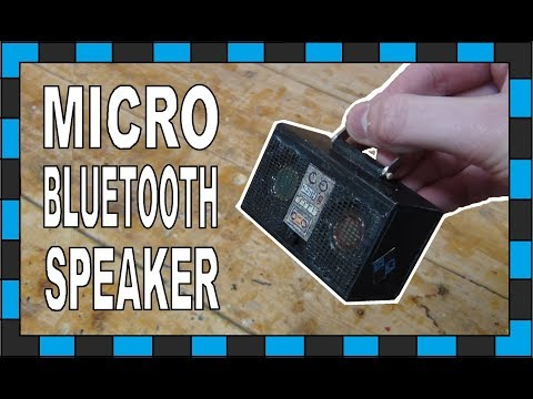 The Worlds Smallest BlueTooth Speaker!!! // How To Build A Micro Bluetooth Speaker!!!