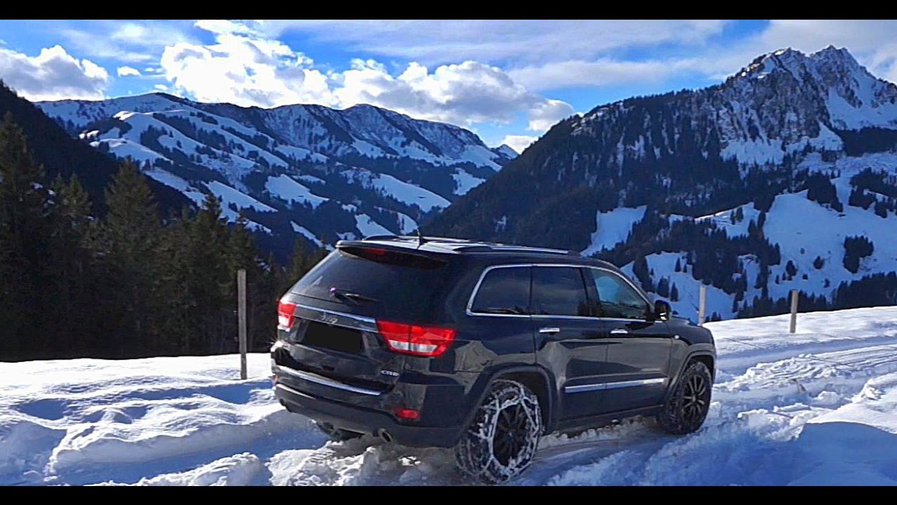 Jeep Grand Cherokee Laredo >> Jeep Grand Cherokee snow Off Road and Camping in the Mountains - YouTube