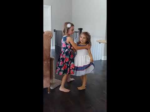 Lexie and Avery Singing (Visit with the Queen)