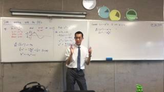 Differential Equations for SHM (2 of 2: Deriving v²=n²[a²-x²])
