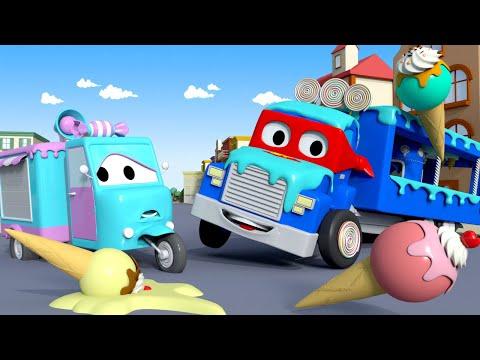 การ์ตูนรถบรรทุกสำหรับเด็ก เจ้ารถไอศครีม  🚚 คาร์ซิตี้ - การ์ตูนรถบรรทุกสำหรับเด็ก Truck for Kids