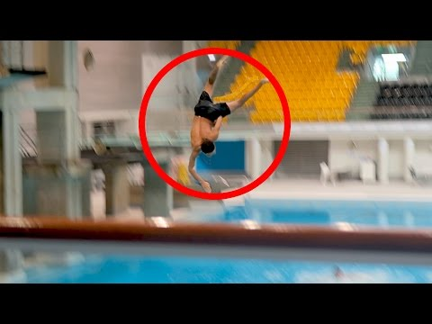 illegally jumping sydney olympic diving platforms