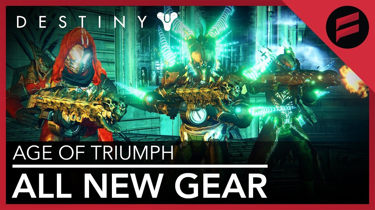 destiny: age of triumph - all exotic adept weapons & armor
