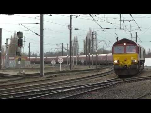 DBS Class 66 No 66129 at York - Redcar BSC to Rylstone Tilcon - 7th Jan 2015